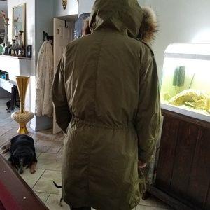 Mens Burberry brit with fur liner